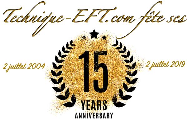 Technique-EFT.com fête ses 15 ans !