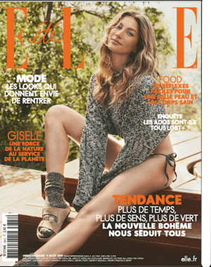 Magazine Elle - couverture du 9 aout 2019
